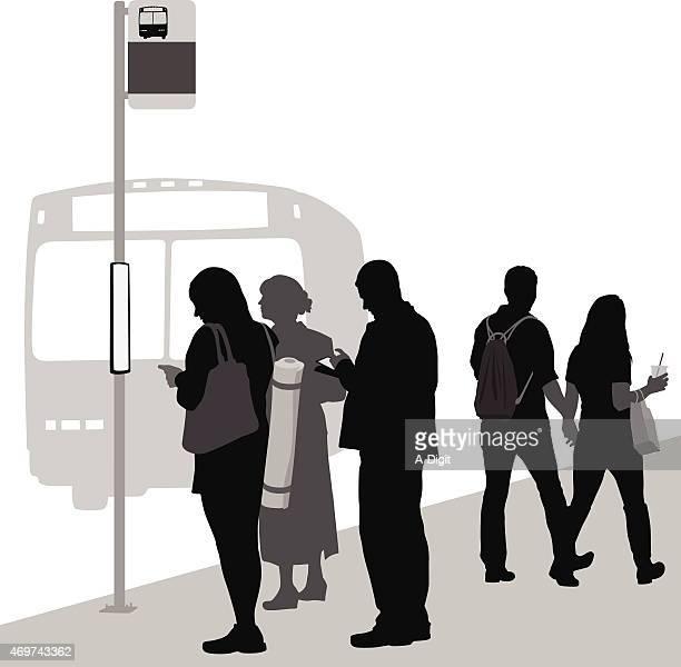 walkingorwaiting - commuter stock illustrations, clip art, cartoons, & icons
