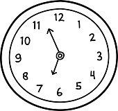 Wall Clock Doodle