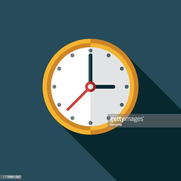 ilustraciones, imágenes clip art, dibujos animados e iconos de stock de icono del reloj de pared - reloj de pared