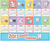 Wall dental calendar 2017.