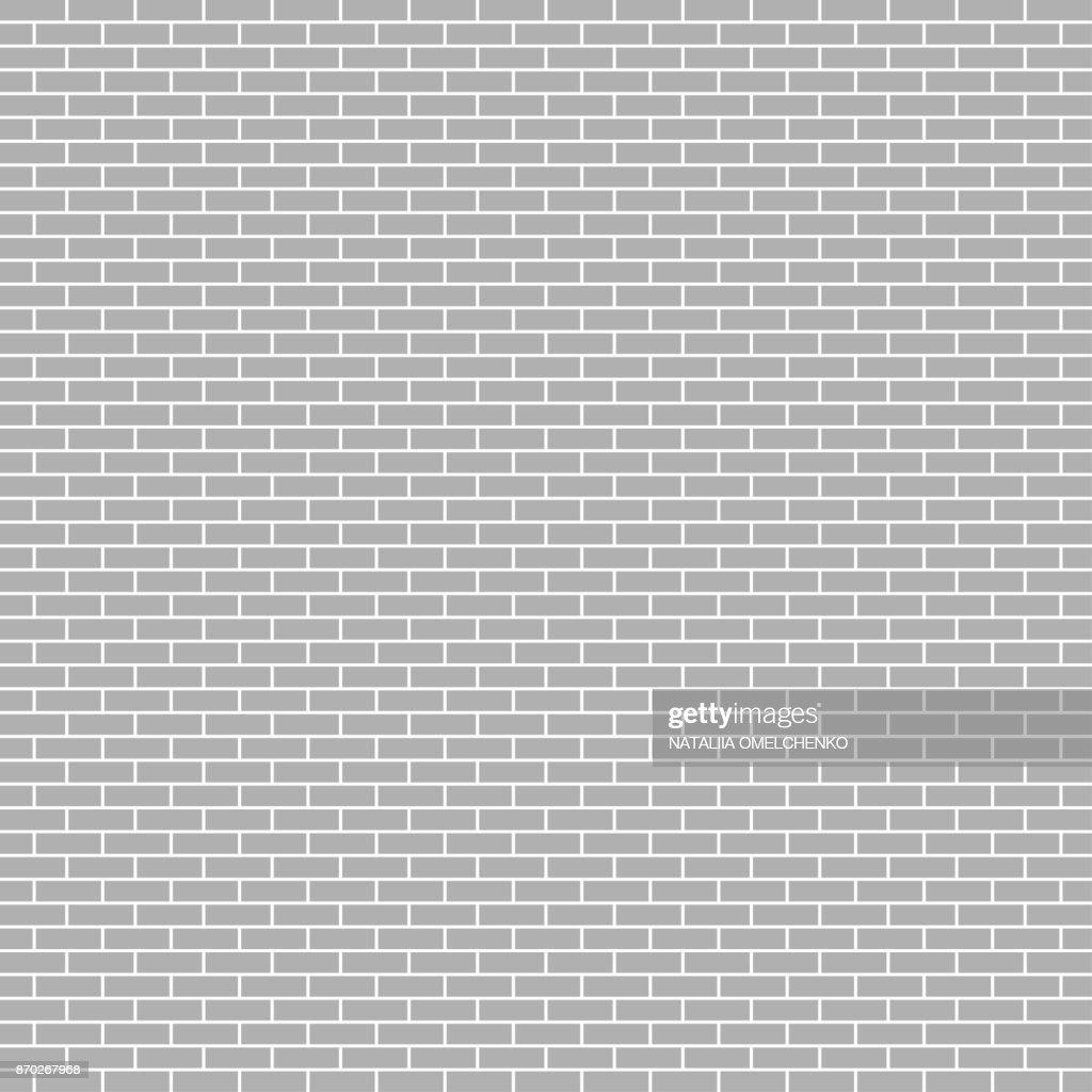 Wall from brick. White brick wall, vector illustration