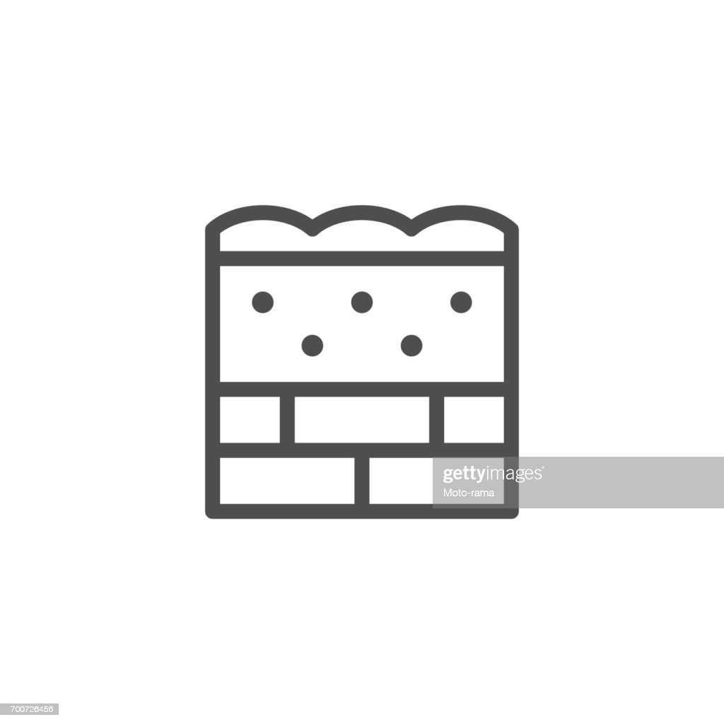 Wall insulation line icon