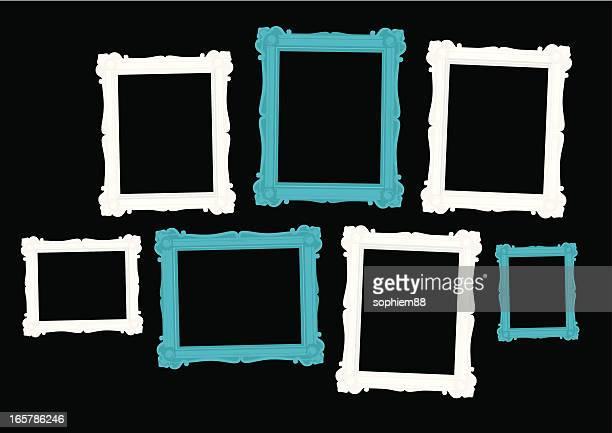 wall of frames - framing stock illustrations, clip art, cartoons, & icons