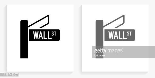 Wall Street Black and White Square Icon