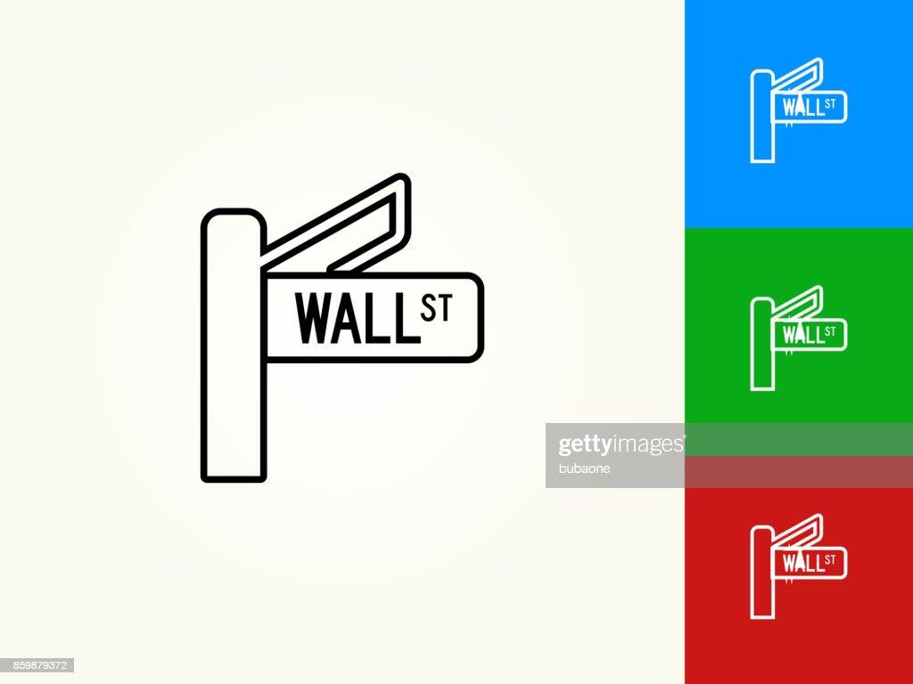Wall Street Black Stroke Linear Icon