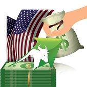 wall street bull money finance usa
