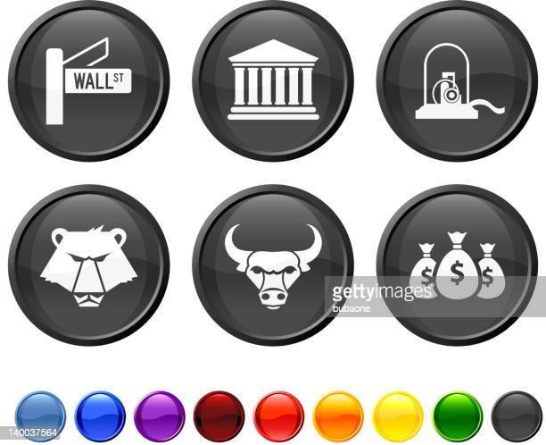 wall street royalty free vector icon set