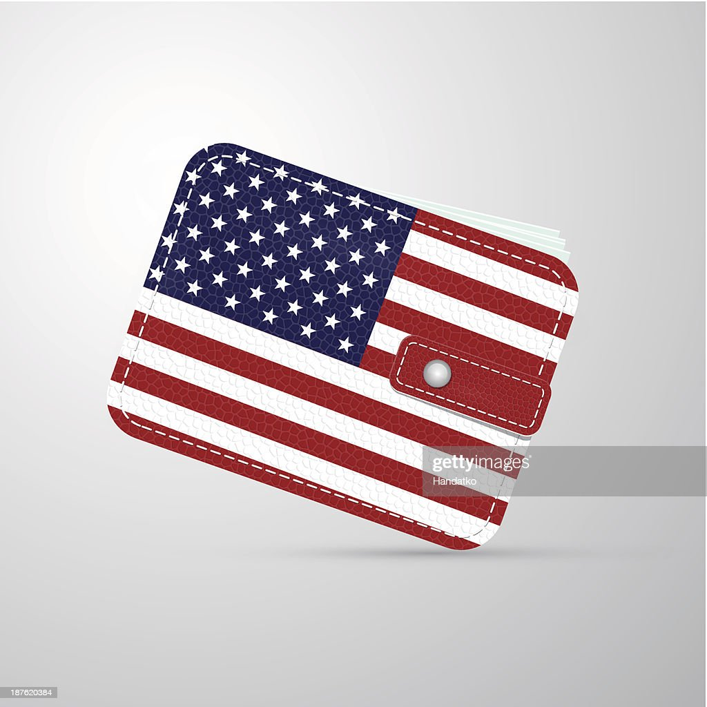 wallet - american flag