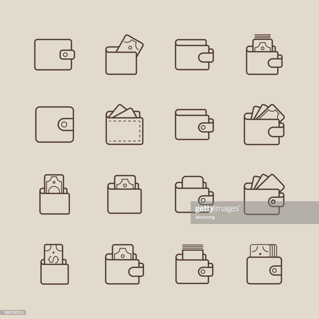 Wallet and Money Icons
