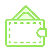 wallet colour Line vector icon