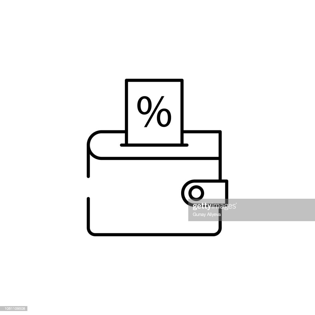 wallet discount icon. Element of cyber monday icon for mobile concept and web apps. Thin line wallet discount icon can be used for web and mobile