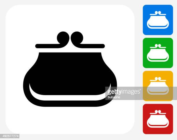 Wallet Icon Flat Graphic Design