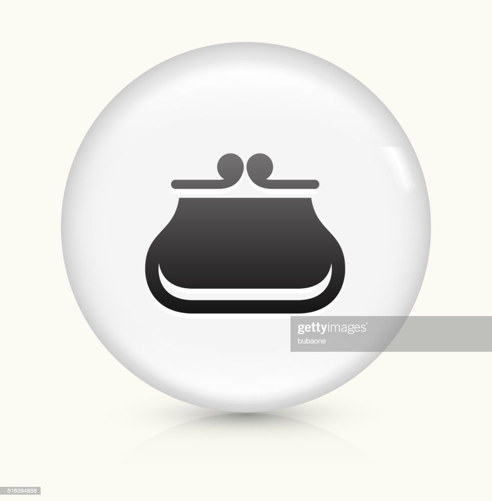 Wallet icon on white round vector button