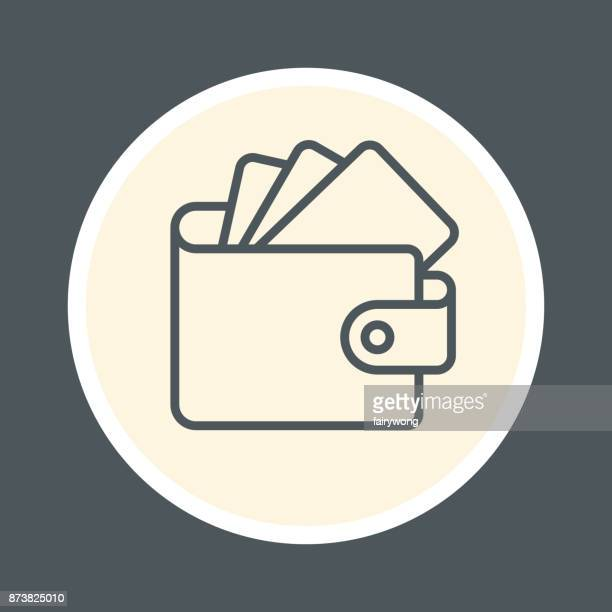 wallet icon - wallet stock illustrations