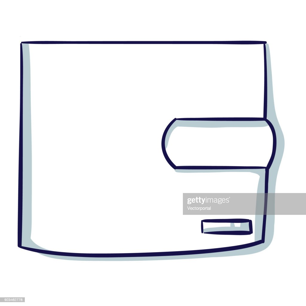 Wallet isolated on the white background.
