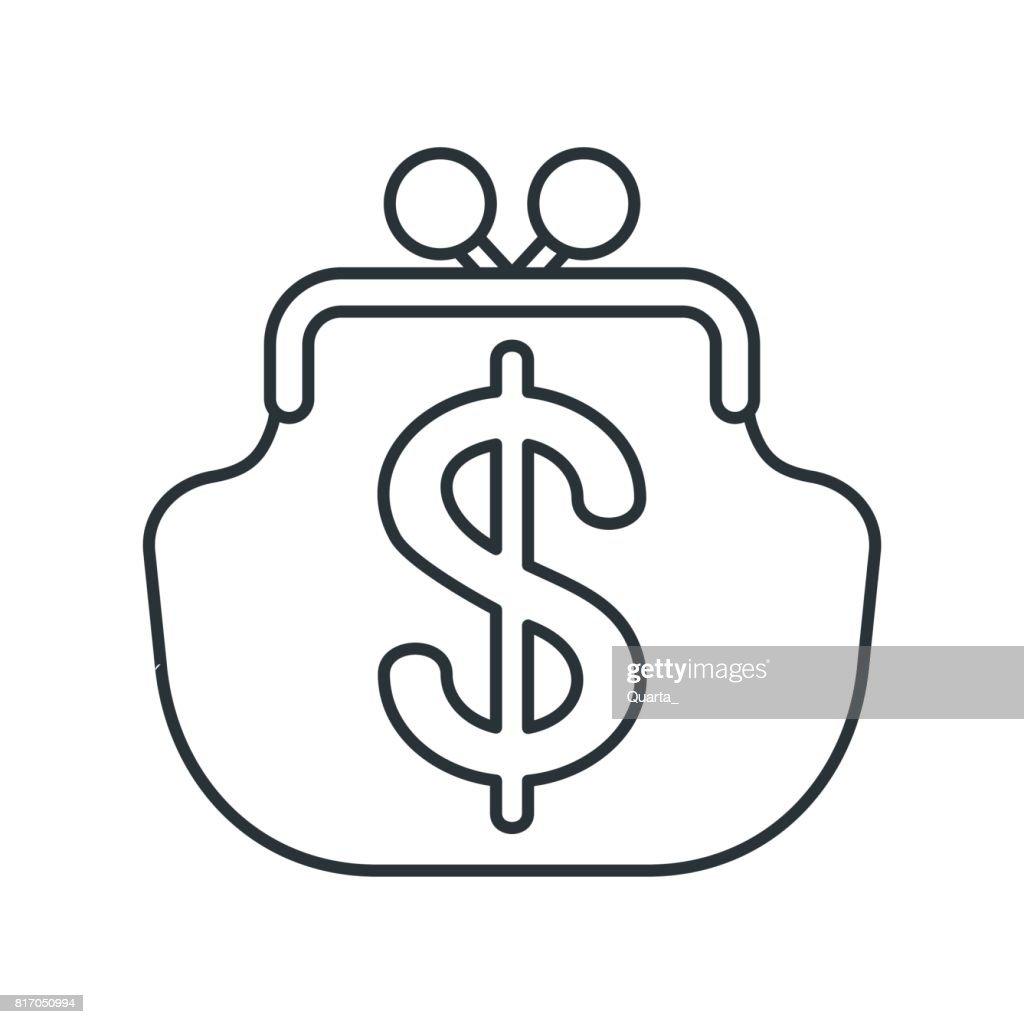 wallet lines icon