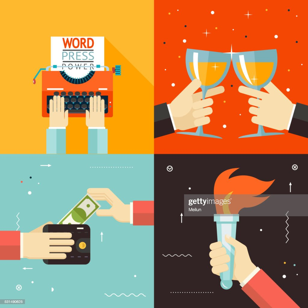 Wallet Payment Word Power Mass Media Victory Celebration Success Hands