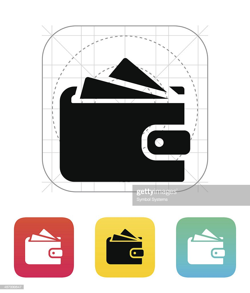 Wallet with cards icon