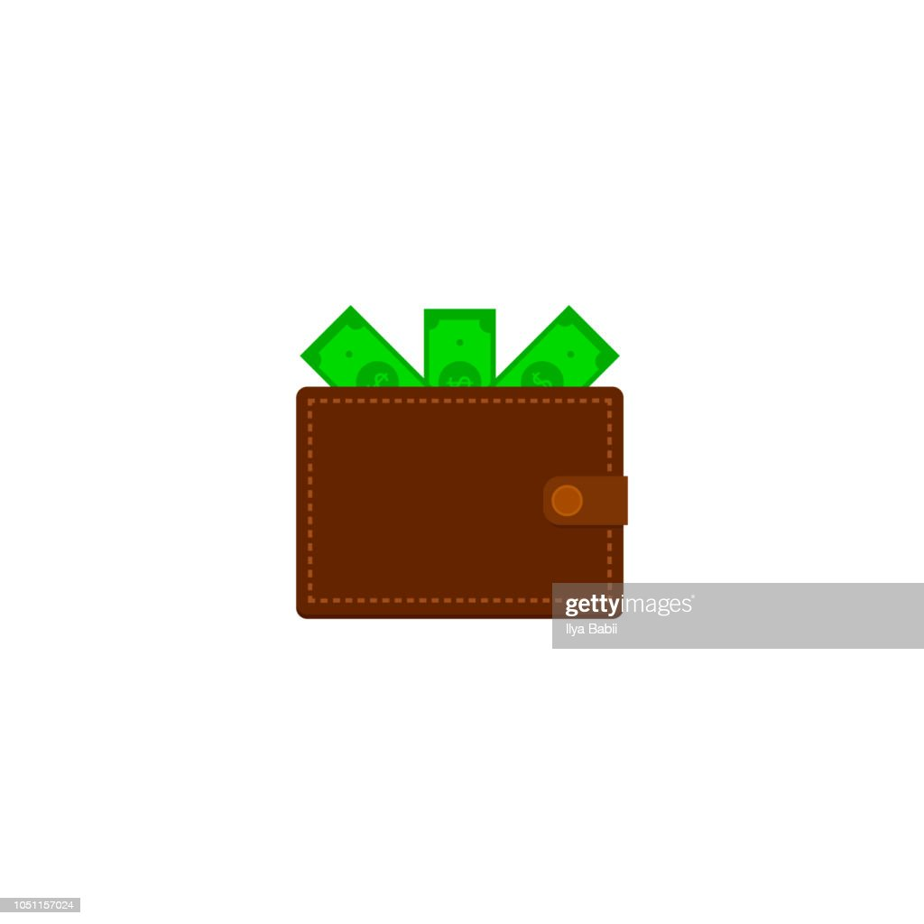 Wallet with money.vector illustration