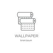 Wallpaper DIY shop logotype design templates.