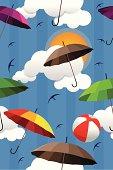 Wallpaper of colorful umbrellas