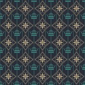 Wallpaper vintage vector illustration