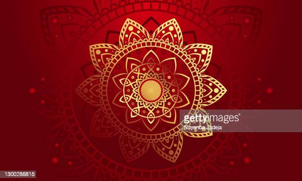 wallpaper with gold luxury vector background - mandalas india stock illustrations