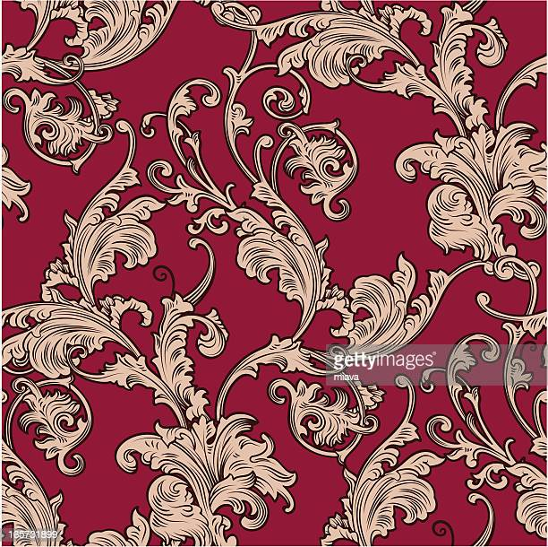 wallpapers are in age-old style - baroque style stock illustrations