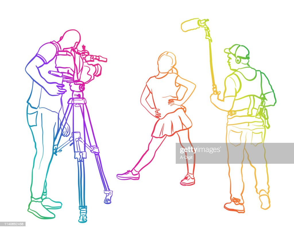Wanna Be Actress Rainbow : Stock Illustration