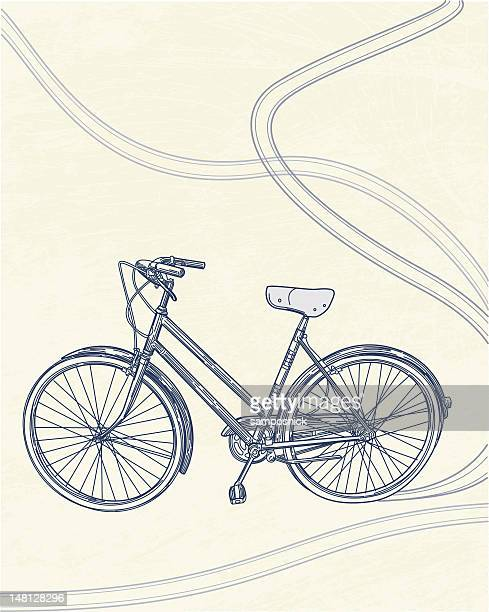 i want to ride my bicycle... - intricacy stock illustrations