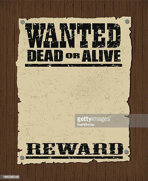 wanted poster - dead or alive, reward background - desire stock illustrations
