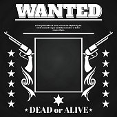 Wanted poster design with western elements