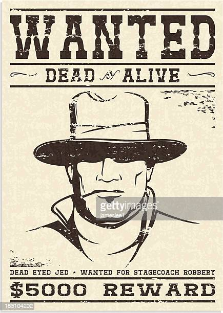 wanted poster - desire stock illustrations