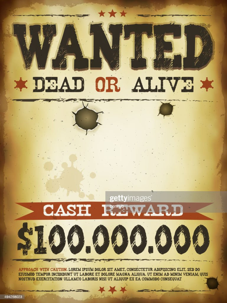 Wanted Vintage Western Poster