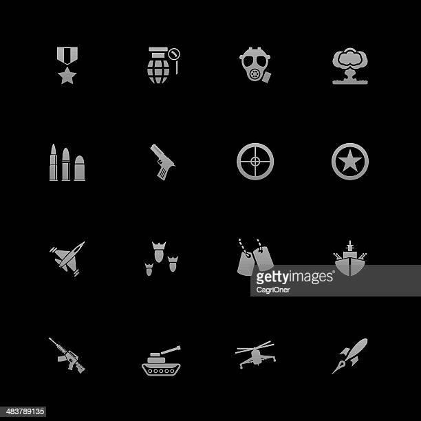 Iconos de juegos y militares de la guerra: Android serie