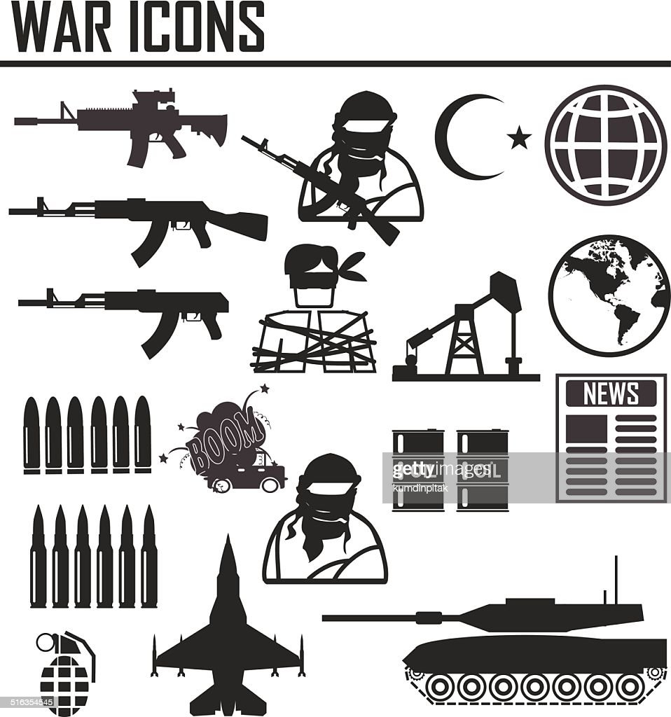 war icon , illustration vector sign and symbol