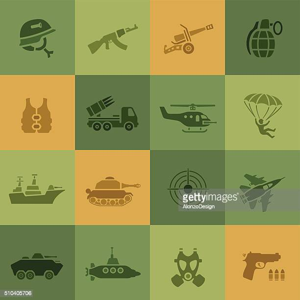 war icons - army stock illustrations, clip art, cartoons, & icons