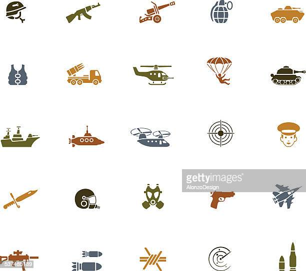 war icons - marines military stock illustrations, clip art, cartoons, & icons