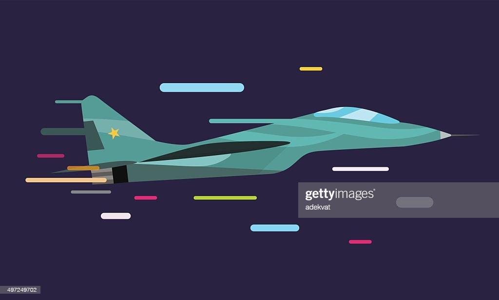 War military plane vector illustration