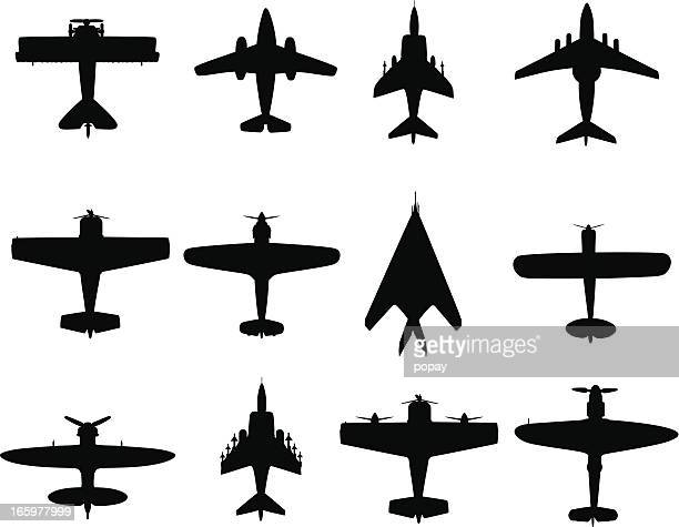 war plane - air vehicle stock illustrations, clip art, cartoons, & icons
