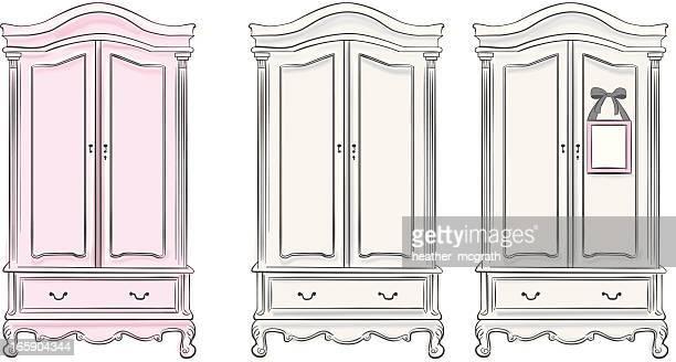Illustrations et dessins anim s de armoire v tements - Dessin d armoire ...