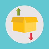 Warehouse icons logistic blank and transportation, storage vecto