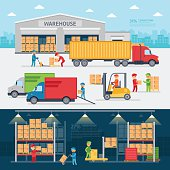 Warehouse infographic elements