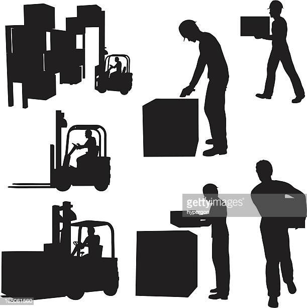 Warehouse Silhouette Collection (vector+jpg)