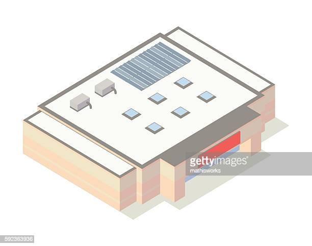 Warehouse store isometric illustration