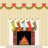 Warm and Festive Christmas Mantle