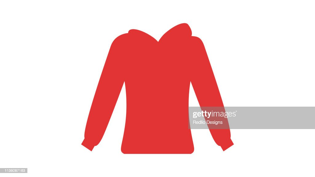 Warm casual clothes Icon : stock illustration