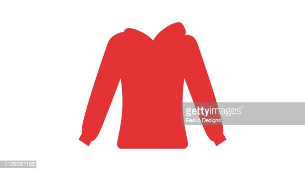 warm casual clothes icon - sweatshirt stock illustrations
