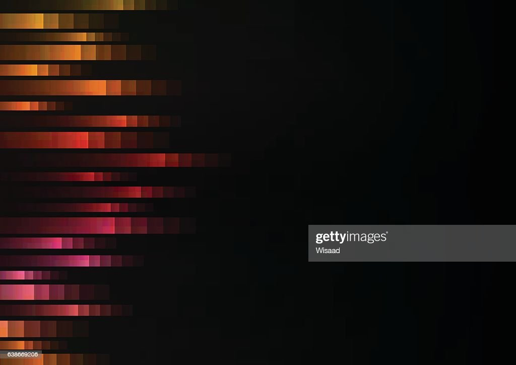 warm color of abstract pixel speed racer from side background