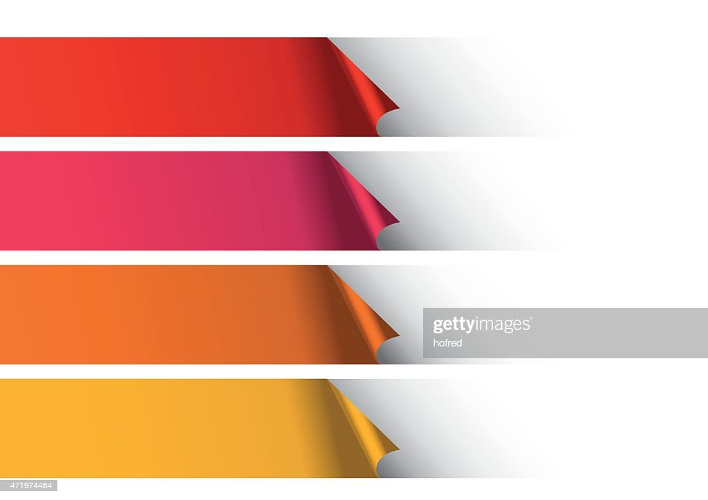 Warm Color Stripes under White Abstract Vector Background Design